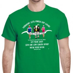 One Cow Finish Line T-Shirt